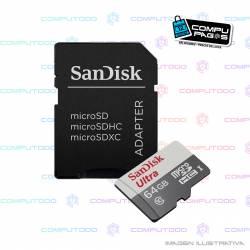 MEMORIA MICRO SD SANDISK ULTRA 64GB C10